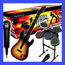 Guitar Hero World Tour Ps2 Bateria + Guitarra Rock Band Play