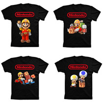 Camiseta Geek Algodão Game Super Mario Maker Nintendo Wii U