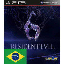 Resident Evil 6 Ps3 Português Código Psn