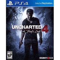 Uncharted 4 A Thiefs End Ps4 Midia Física Lacrado Portugues