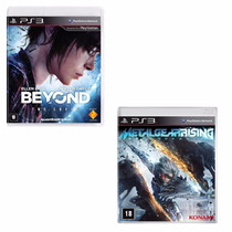 Kit 2 Jogos: Beyond Two Souls + Metal Gear Rising - Lacrado