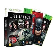 Injustice Gods Among Us + Liga Da Justiça Original Xbox 360