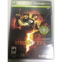 Resident Evil 5 Xbox 360 Platinum Impecável Sem Riscos