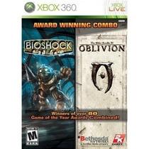 Combo Bioshock E Oblivion Jogos Originais Para Xbox 360 Semi