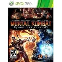 Mortal Kombat Komplete Edition Xbox 360 Mídia Física Lacrado