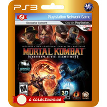 Mortal Kombat 9 Komplete Edition (código Ps3)