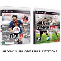 Fifa 13 + Pes 2012 - Ps3 Midia - Portugues Original Lacrado