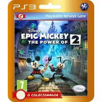 Epic Mickey 2 The Power Of Two (código Ps3)