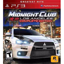 Midnight Club Los Angeles Complete Edition Ps3 (psn)