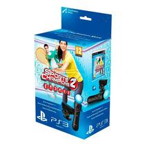 Kit Move Playstation 3 Completo Câmera Controle Move 2 Jogos