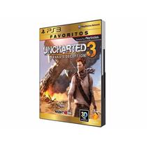 Uncharted 3 Drake´s Deception Ps3 Pt Br - Envio Mesmo Dia!