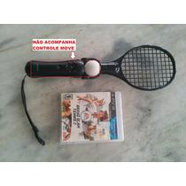 Jogo Grand Slam Tennis 2 + Raquete Move Ps3 Original