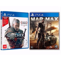 Combo Mad Max C/ Filme + The Witcher Ps4 Rcr Games
