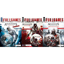 Assassins Creed 1, 2 E Brotherhood Fullgames Frete Grátis!!!