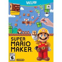 Super Mario Maker Nintendo Wii U Novo Lacrado Garantia