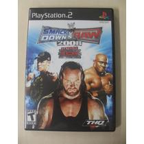 Wwe Smackdown Vs Raw 2008 Ps2 Original Americano Mma Luta