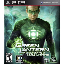 Green Lantern Rise Of The Manhunters Lanterna Verde Ps3 Zero
