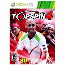 Jogo Top Spin 4 2k Sports Original Para Xbox 360 A6417