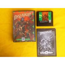 Onslaught - Genesis - Completo - 1989 - Ultra Raro !!!