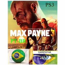 Max Payne 3 Jogo Dublado Português Psn Ps3 Play3 Envio Rapid