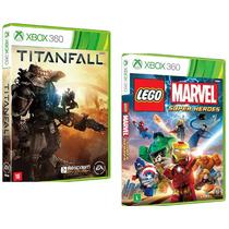 Lego Marvel + Titanfall Xbox 360 Originais Novos Rcr Games