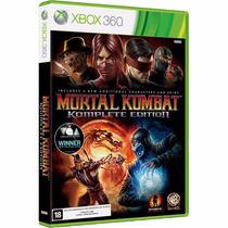 Xbox 360 Mortal Kombat Komplete Edition Lacrado Mídia Física