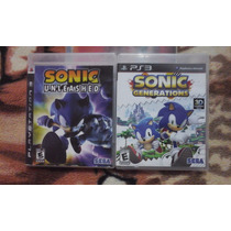 Kit Sonic Unleashed E Generations Ps3 Original