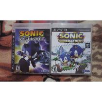 Kit Sonic Unleashed E Generations Ps3 Original