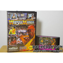 Wwf Super Wrestle Mania - Luta Livre - C/ Caixa - Mega Drive