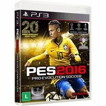 Pes 2016 Ps3 Blu-ray Midia Fisica Br Futebol Português Lacra