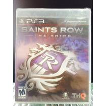 Jogo Saints Row The Third Playstation 3, Original, Novo