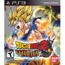 Dragon Ball Z Ultimate Tenkaichi Mídia Física Ps3 - E-sedex