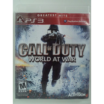 Call Of Duty World At War Ps3 - Impecável - Pronta Entrega !