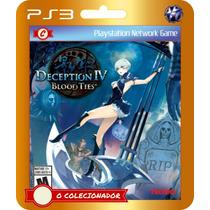 Deception Iv: Blood Ties Em Promoção!! (código Ps3)