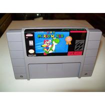 Fita Super Mario World Original Super Nintendo Snes