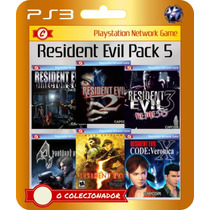 Resident Evil 1+2+3+4+5 Gold Edition + Code Veronica X Ps3!!