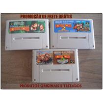 Trilogia Donkey Kong - Japoneses Originais - Frete 10,00