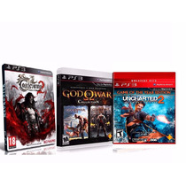3 Jogos: Castlevania Lords 2 + God Of War Coll + Uncharted 2