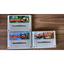 Trilogia Donkey Kong Country Original P/ Super Nintendo