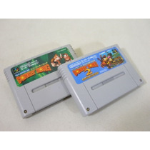 Donkey Kong 1 E 2 Original Super Famicom Gravando!