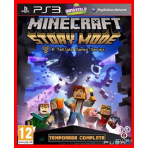 Minecraft Story Mode Season Pass Portugues Ps3 Psn Todos Ep