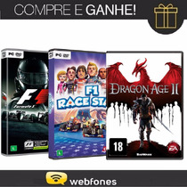 Combo Pc Formula 1 2013 + Pc F1 Race Stars + Pc Dragon Age 2