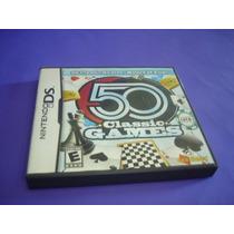 Nintendo Ds : Caixa E Manual Do Jogo 50 Classics Games