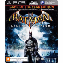 Batmam Arkhan Asylum Ps3 - Mídia Digital Riosgames