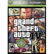 Gta 4 Iv Dvd Original Xbox 360 Platinum Hits Ntsc