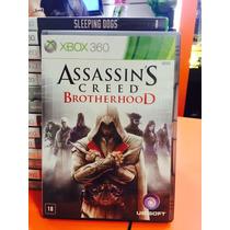 Jogo Assassins Creed Brotherhood Xbox 360 Em Portugues Novo