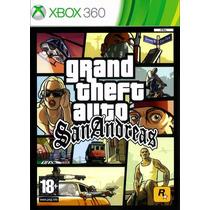 Jogo Gta Grand Theft Auto San Andreas Mídia Física Xbox 360