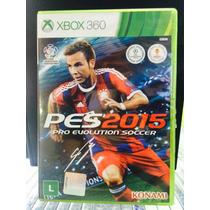 Jogo Pes 2015 Xbox 360, Original, Lacrado, Novo