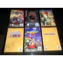 Manuais Nintendo 64 - Mk Trilogy Mario Vigilante 8