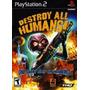 Jogo Ps2 - Destroy All Humans
